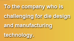 To the company who is challenging for die design and manufacturing technology.